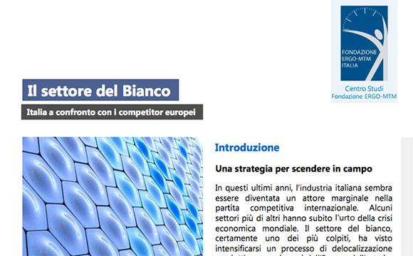IL SETTORE DEL BIANCO – ITALIA A CONFRONTO CON I COMPETITOR EUROPEI